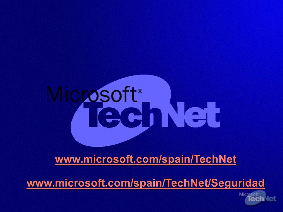 www.microsoft.com/spain/TechNet www.microsoft.com/spain/TechNet/Seguridad www.microsoft.com/spain/TechNet www.microsoft.com/spain/TechNet/Seguridad