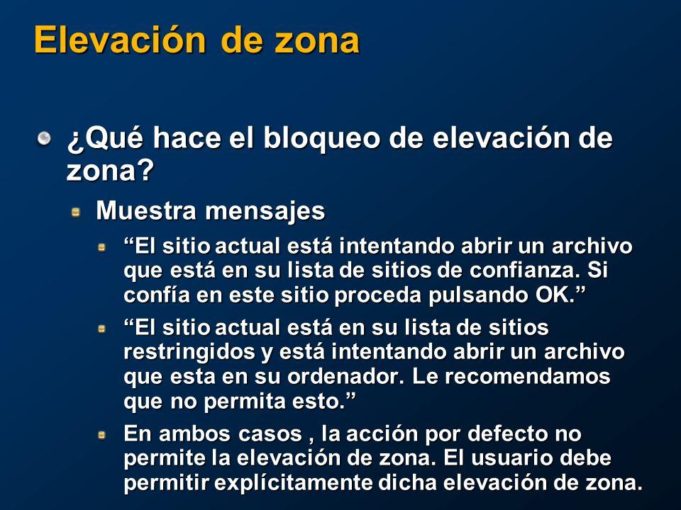 Elevación de zona ¿Qué hace el bloqueo de elevación de zona.