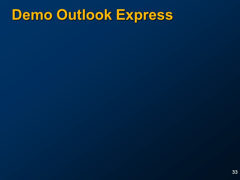 33 Demo Outlook Express