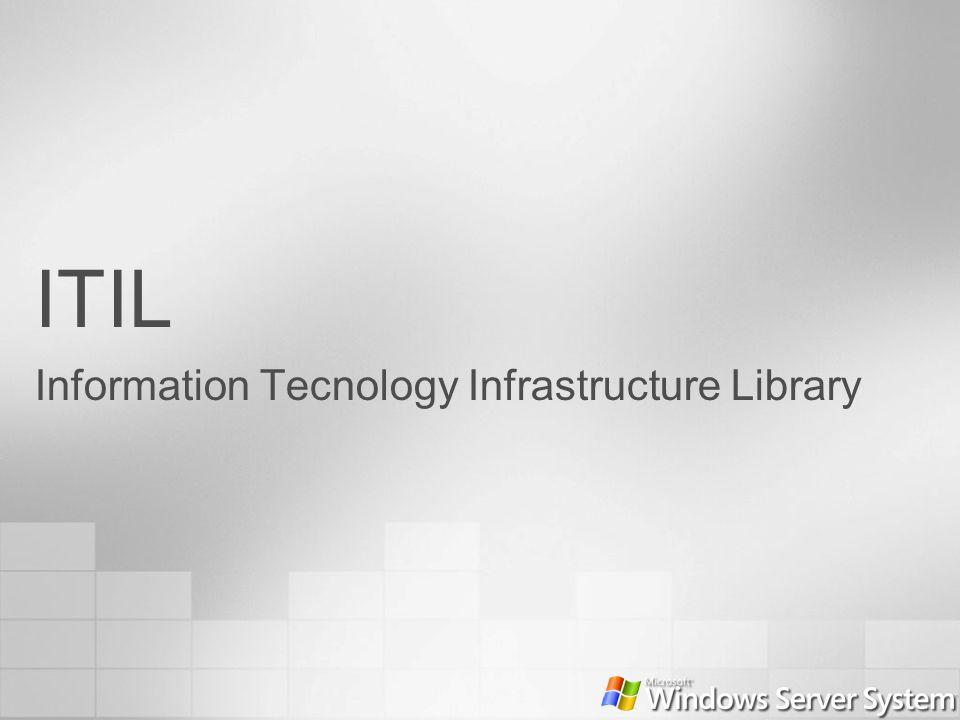 Filosofía de ITIL Capturar las mejores prácticas de la industria Escalable, adaptándose a las organizaciones Las organizaciones pueden adoptar y adaptar ITIL MOF es una adaptación de ITIL (no es 100% idéntico) – by design Independiente de la plataforma y la tecnología Más descriptivo que prescriptivo