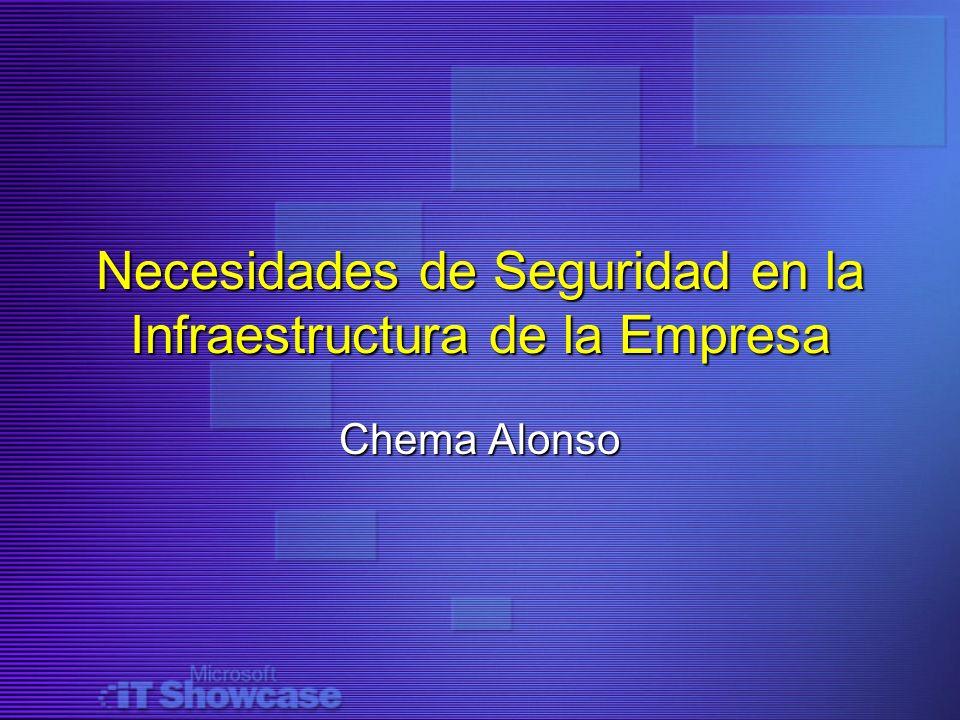 Necesidades de Seguridad en la Infraestructura de la Empresa Chema Alonso