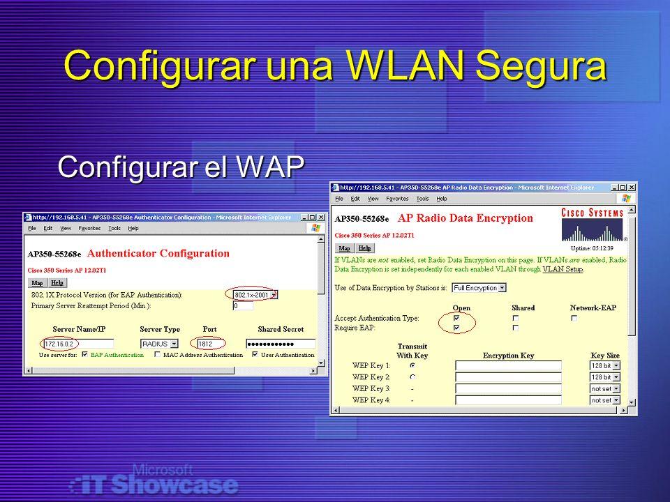 Configurar una WLAN Segura Configurar el WAP