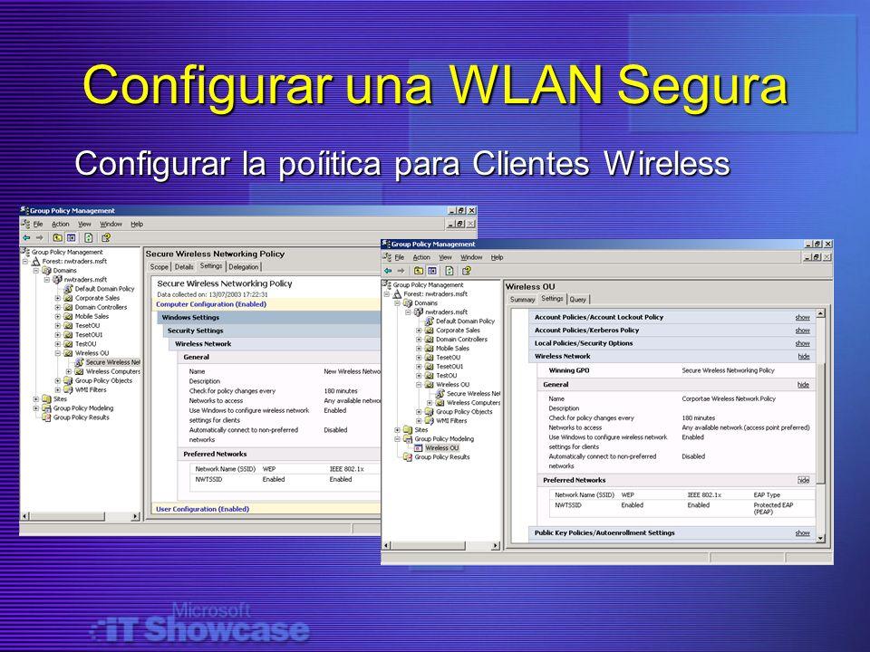 Configurar la poíitica para Clientes Wireless