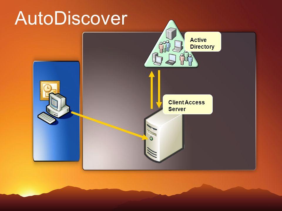 Client Access Server Active Directory AutoDiscover