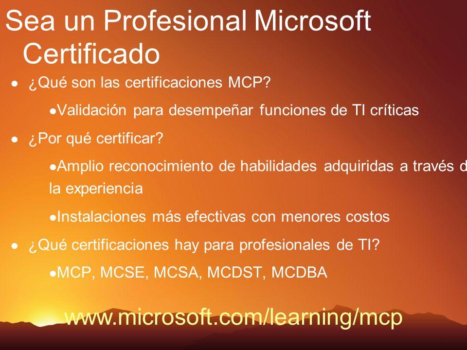 Sea un Profesional Microsoft Certificado ¿Qué son las certificaciones MCP.