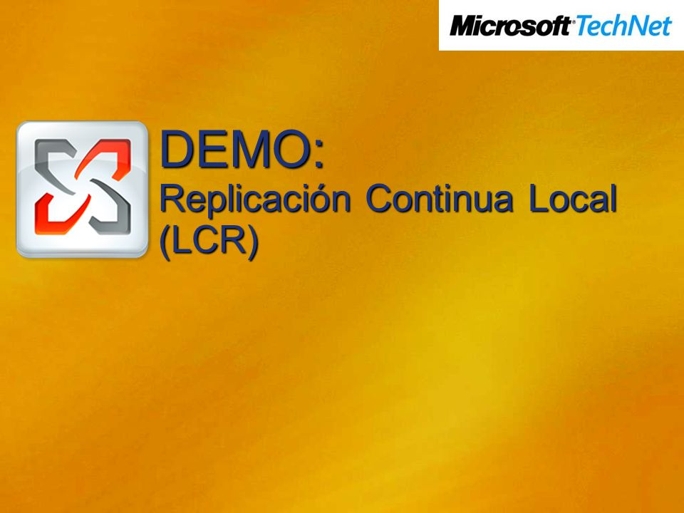 DEMO: Replicación Continua Local (LCR)