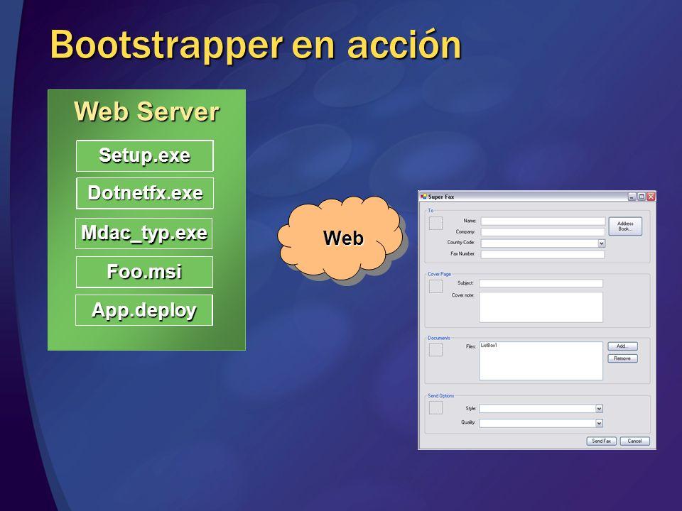 9 Prerrequisitos ClickOnce no necesita permisos de administración Instalación aislada por usuario No se permiten componentes compartidos Bootstrapper