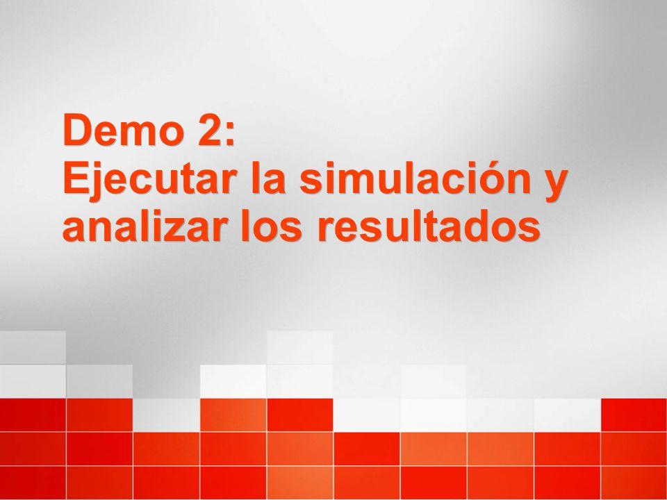 Demo 2: Ejecutar la simulación y analizar los resultados