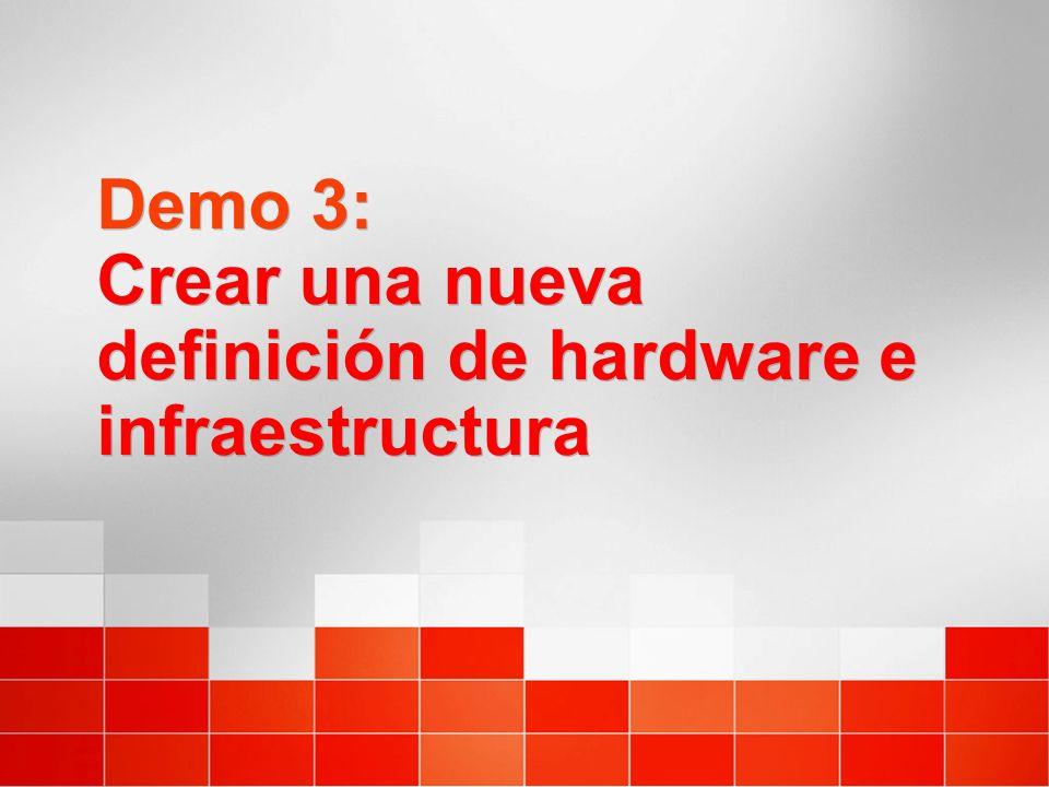 Demo 3: Crear una nueva definición de hardware e infraestructura