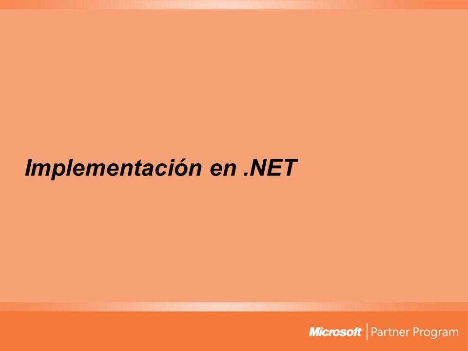 Implementación en.NET