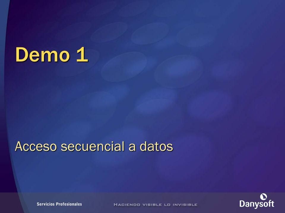 Demo 1 Acceso secuencial a datos