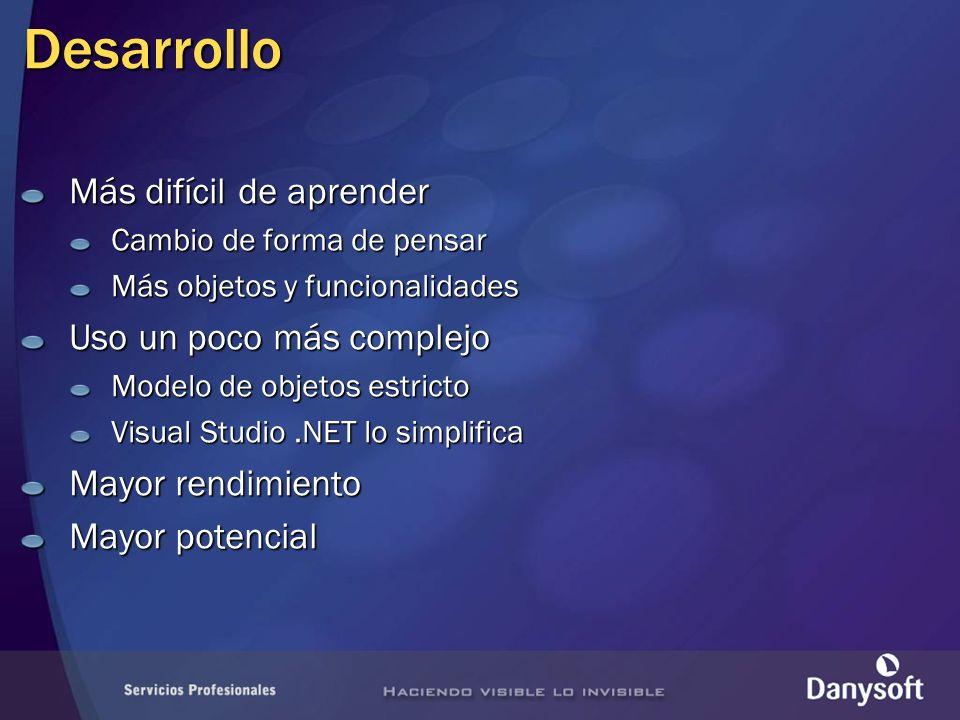 Objetos de ADO.NET DataSet preparado para contener datos determinados en tiempo de diseño Agiliza desarrollo Mejora rendimiento Evita errores Diseño visual: esquema XSD DataSet tipado