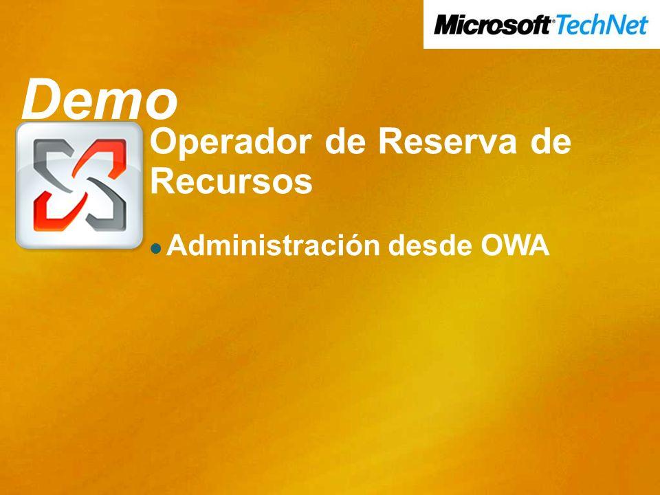 Demo Operador de Reserva de Recursos Administración desde OWA Demo