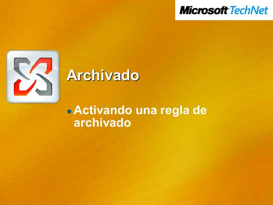 Archivado Activando una regla de archivado