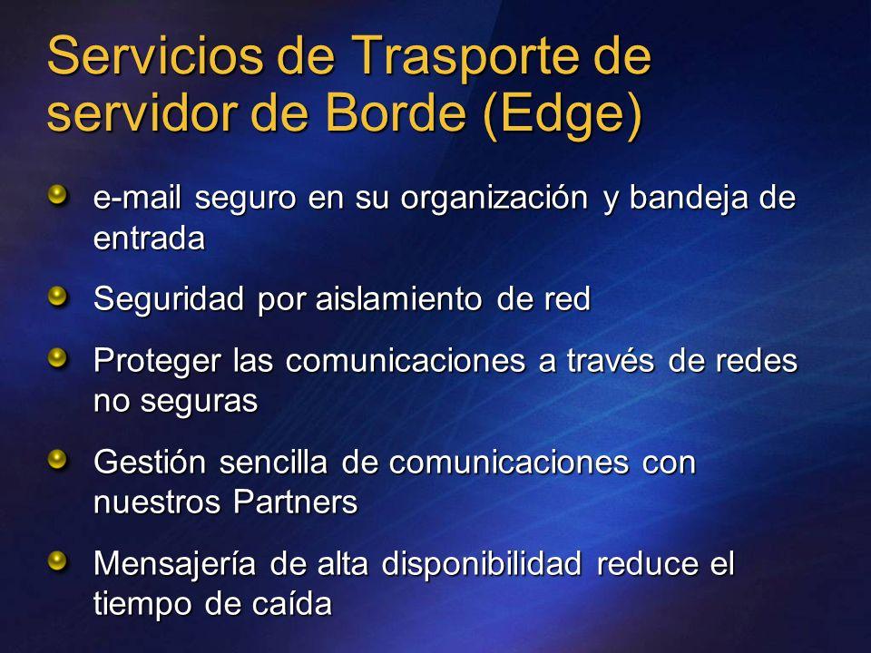 Servicios de Trasporte de servidor de Borde (Edge) e-mail seguro en su organización y bandeja de entrada Seguridad por aislamiento de red Proteger las