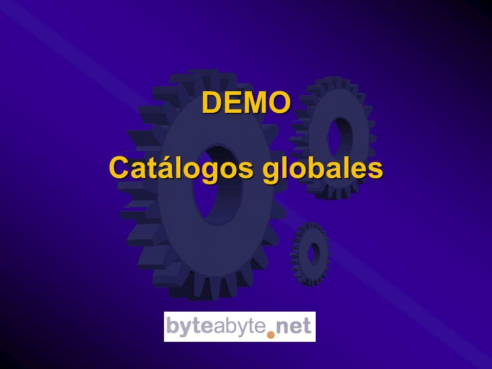 DEMO Catálogos globales