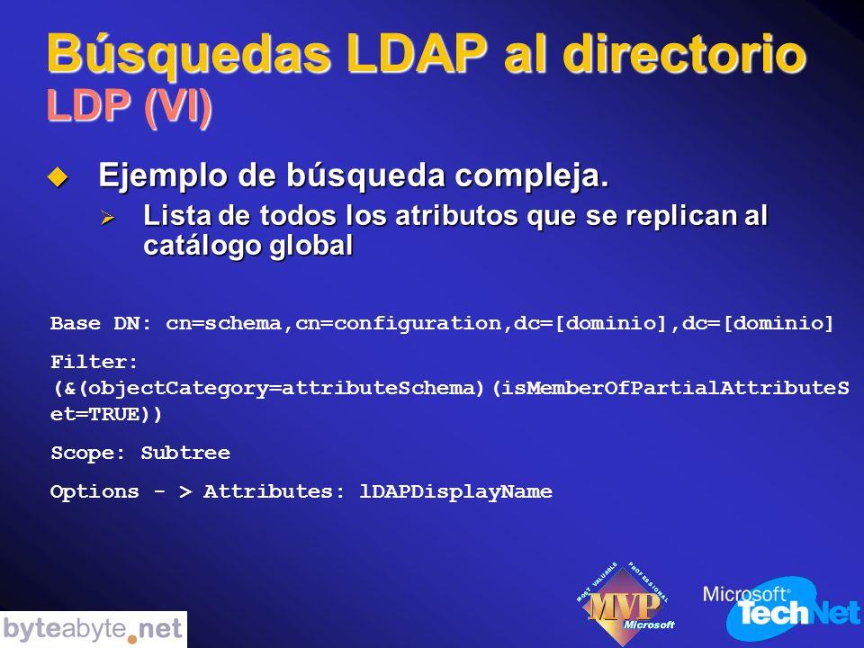 Búsquedas LDAP al directorio LDP (VI) Ejemplo de búsqueda compleja.