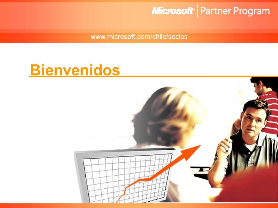 Microsoft Confidential Bienvenidos www.microsoft.com/chile/socios