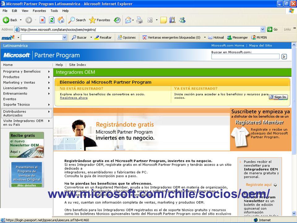 Confidencial de Microsoft www.microsoft.com/chile/socios/oem/