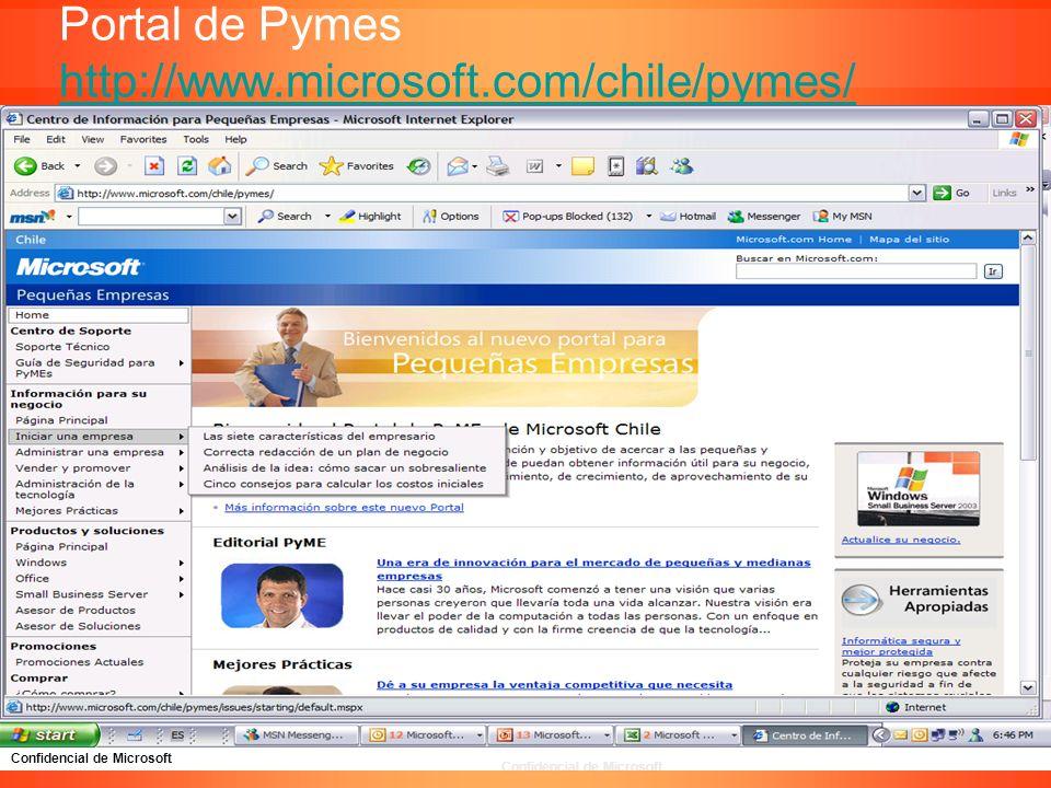 Confidencial de Microsoft Portal de Pymes http://www.microsoft.com/chile/pymes/ http://www.microsoft.com/chile/pymes/