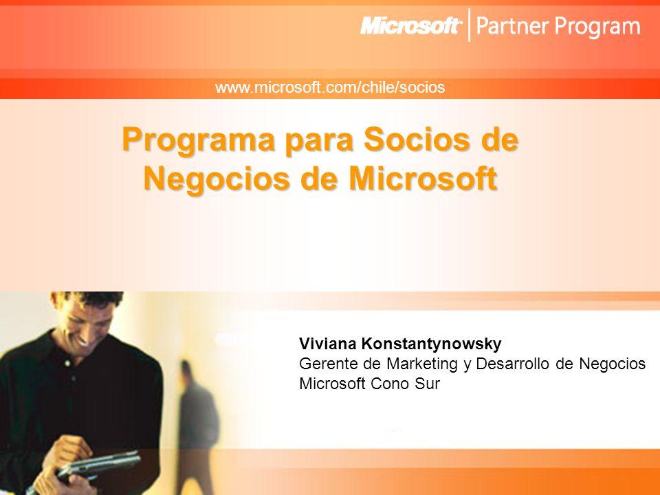 Microsoft Confidential Viviana Konstantynowsky Gerente de Marketing y Desarrollo para Socios de Negocios Microsoft Cono Sur Programa para Socios de Ne
