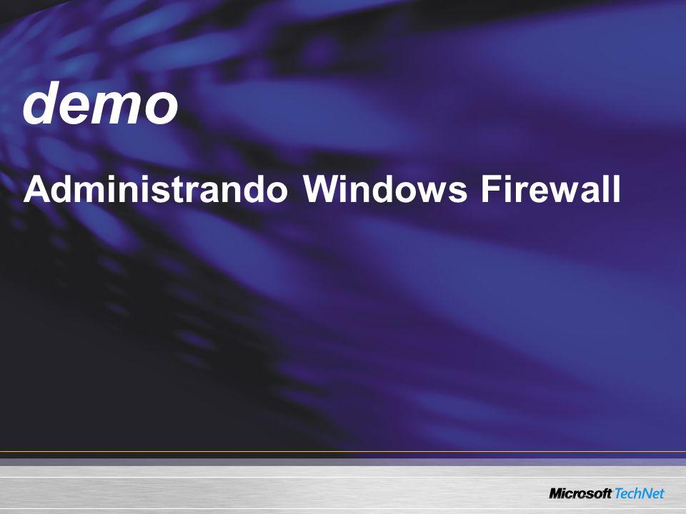 Demo Administrando Windows Firewall demo