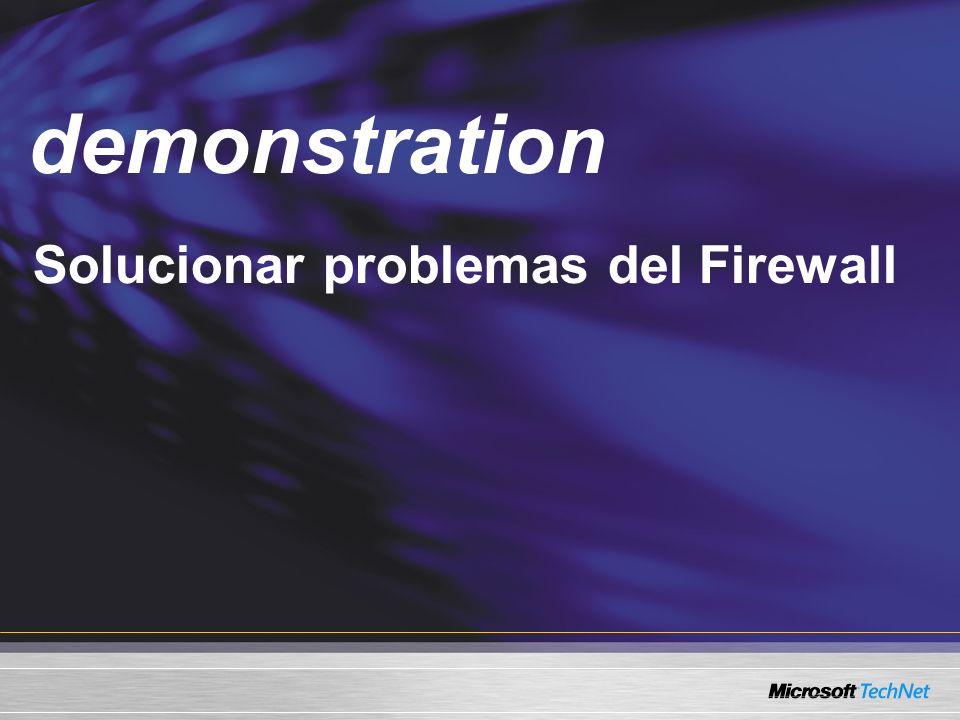 Demo Solucionar problemas del Firewall demonstration