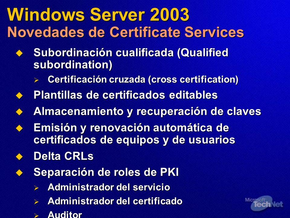 Subordinación cualificada (Qualified subordination) Subordinación cualificada (Qualified subordination) Certificación cruzada (cross certification) Ce