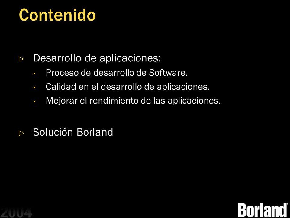 Contenido Desarrollo de aplicaciones: Proceso de desarrollo de Software. Calidad en el desarrollo de aplicaciones. Mejorar el rendimiento de las aplic