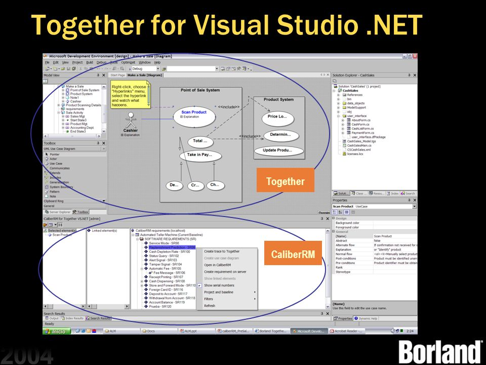 Together for Visual Studio.NET Together CaliberRM