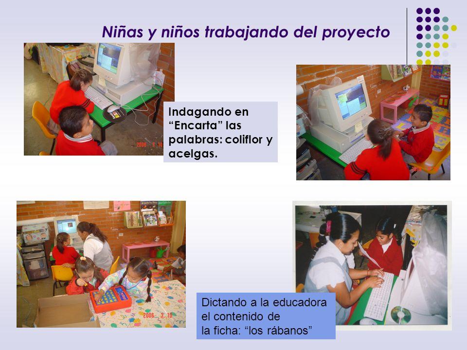 Los niños y niñas logran realizar producciones donde copian la información más importante