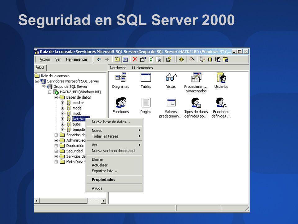 Seguridad en SQL Server 2000