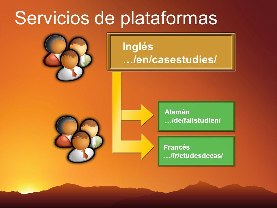 Servicios de plataformas Inglés …/en/casestudies/ Alemán …/de/fallstudien/ Francés …/fr/etudesdecas/