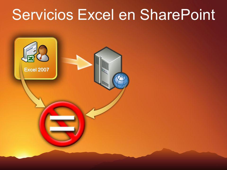 Servicios Excel en SharePoint Excel 2007
