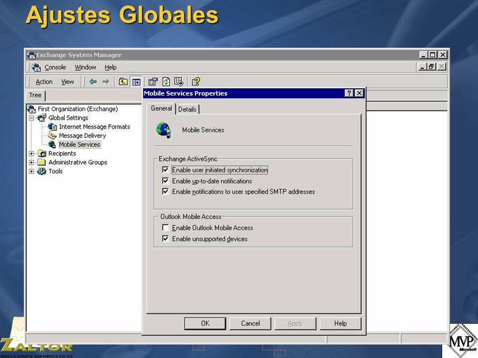 Ajustes Globales