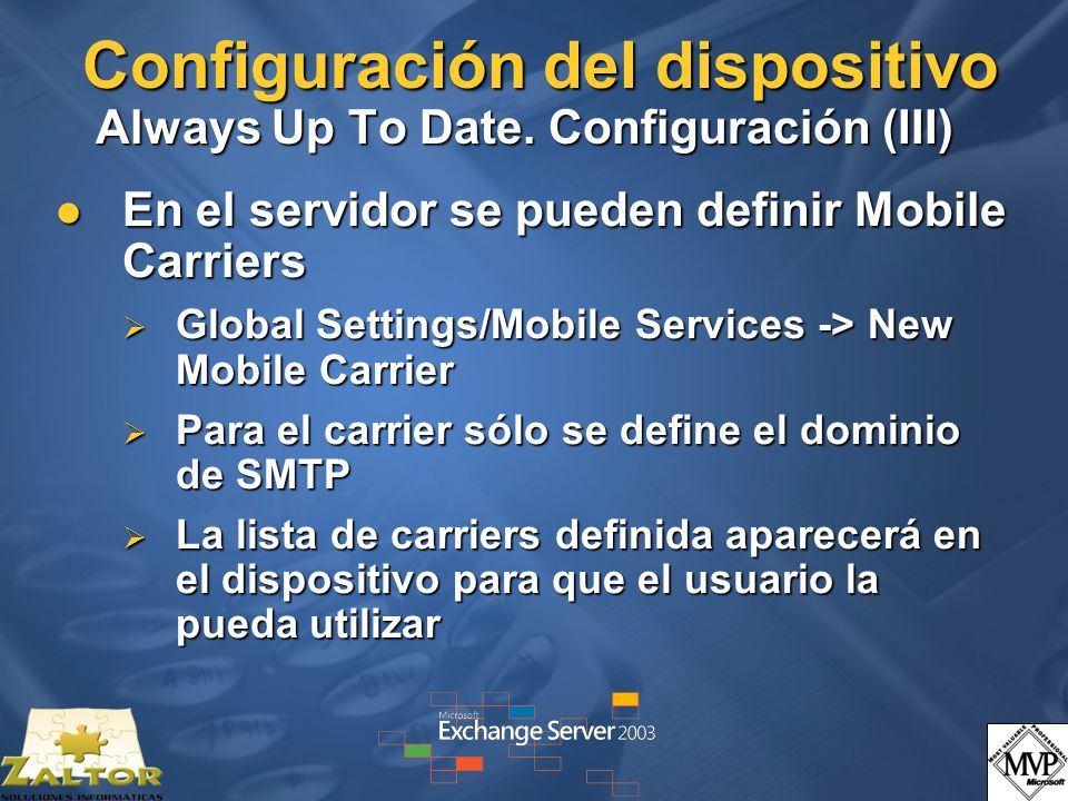 Configuración del dispositivo Always Up To Date.