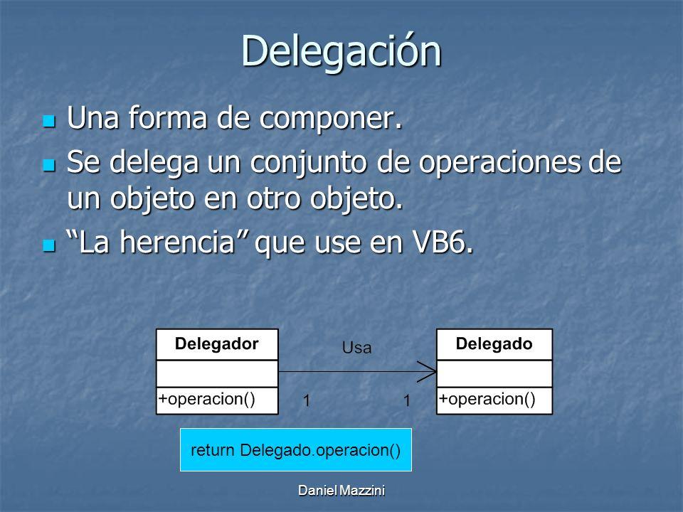 Daniel Mazzini Delegación Una forma de componer.Una forma de componer.