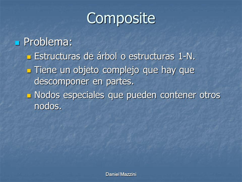 Composite Problema: Problema: Estructuras de árbol o estructuras 1-N.