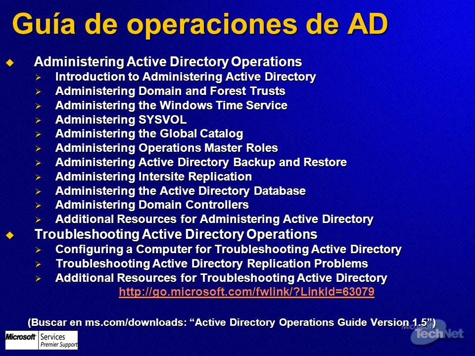 Guía de operaciones de AD Administering Active Directory Operations Administering Active Directory Operations Introduction to Administering Active Dir