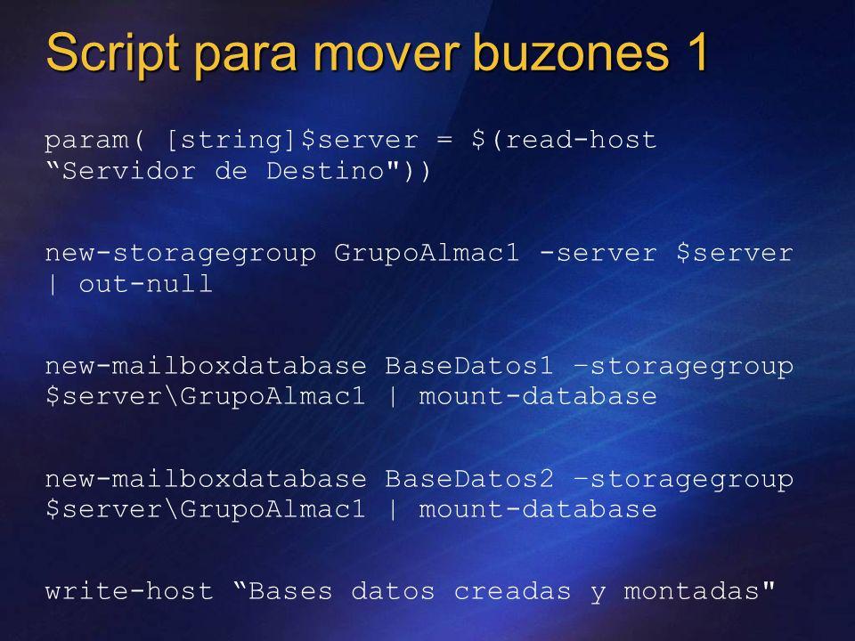 param( [string]$server = $(read-host Servidor de Destino