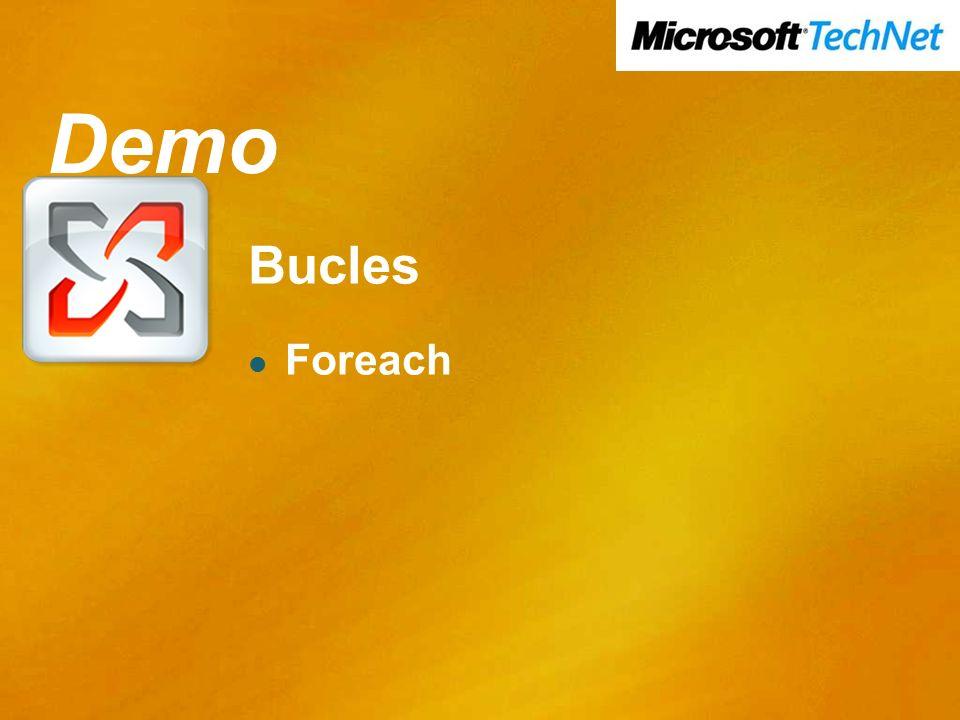 Demo Bucles Foreach Demo