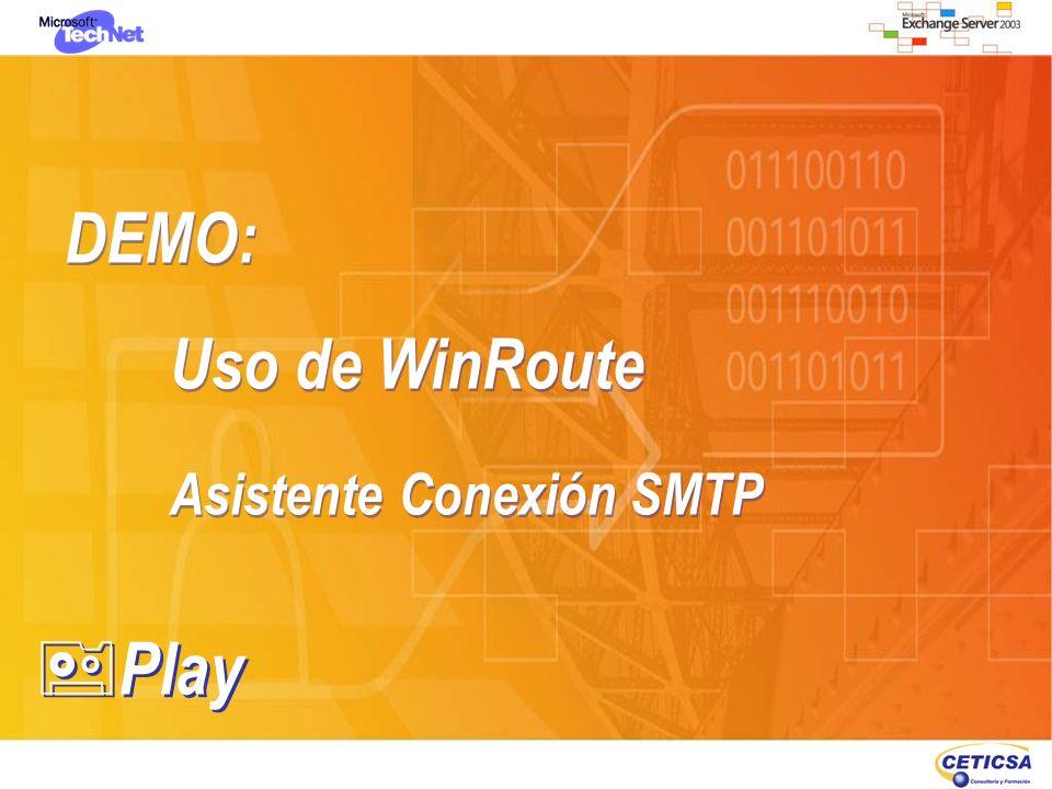 DEMO: Uso de WinRoute Asistente Conexión SMTP DEMO: Uso de WinRoute Asistente Conexión SMTP Play