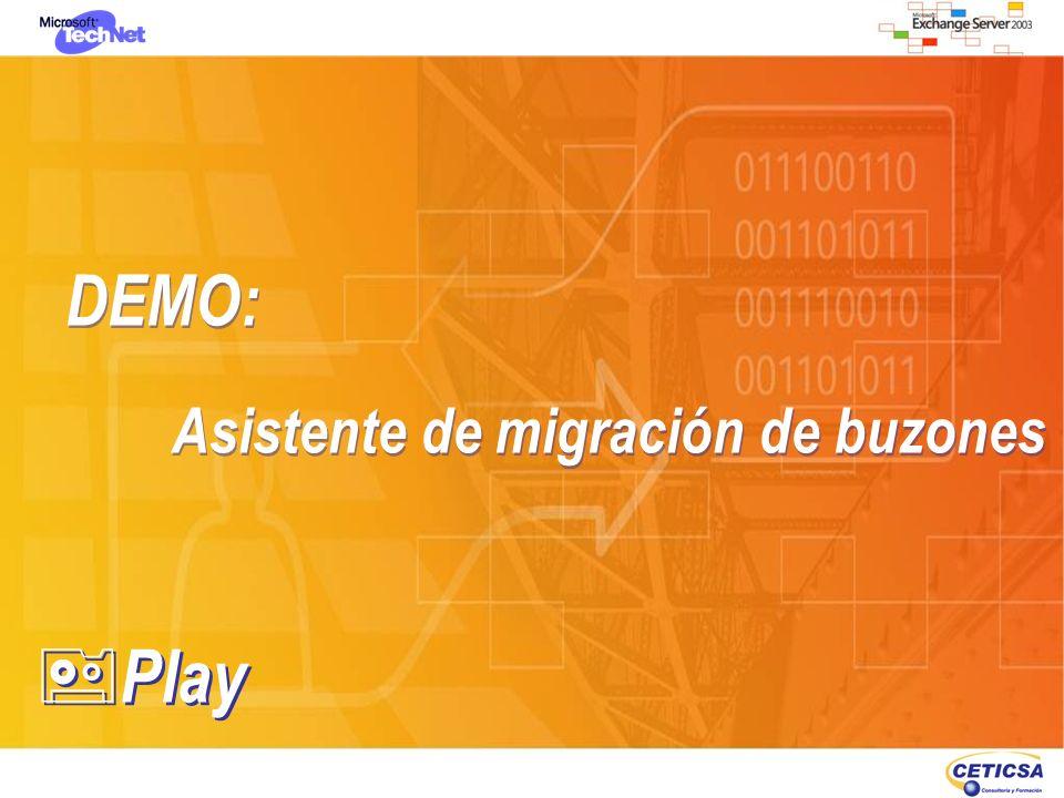 DEMO: Asistente de migración de buzones DEMO: Asistente de migración de buzones Play