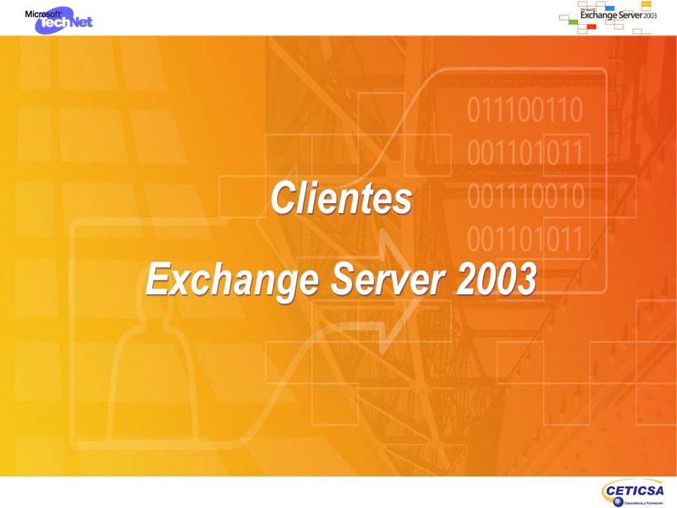 MAPI: Outlook 2003 (Cached, On-Line, Off-Line) Compresión del tráfico Sincronización inteligente RPC encapsulado en HTTP directo por INet; evitando el trazado de VPN Integración Right Management Services MAPI: Outlook 2003 (Cached, On-Line, Off-Line) Compresión del tráfico Sincronización inteligente RPC encapsulado en HTTP directo por INet; evitando el trazado de VPN Integración Right Management Services Clientes de Exchange Server 2003