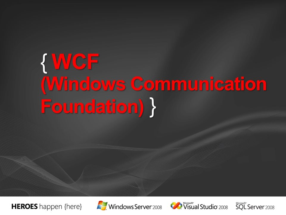 COM DDE Sockets RPC DCOM WS (ASMX) Remoting WCF y WF-Svc WSE Tecnología.NET Tiempo RDS System.Messaging COM+ EnterpriseServices 1992 1994 1997 1998 2001 (.NET 1.0) 2003 (.NET 1.1) 2005 (.NET 2.0) 2006 (.NET 3.0) 2008 (.NET 3.5)