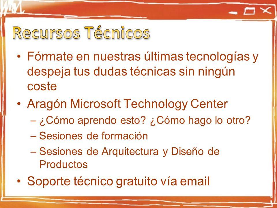 Fórmate en nuestras últimas tecnologías y despeja tus dudas técnicas sin ningún coste Aragón Microsoft Technology Center –¿Cómo aprendo esto.