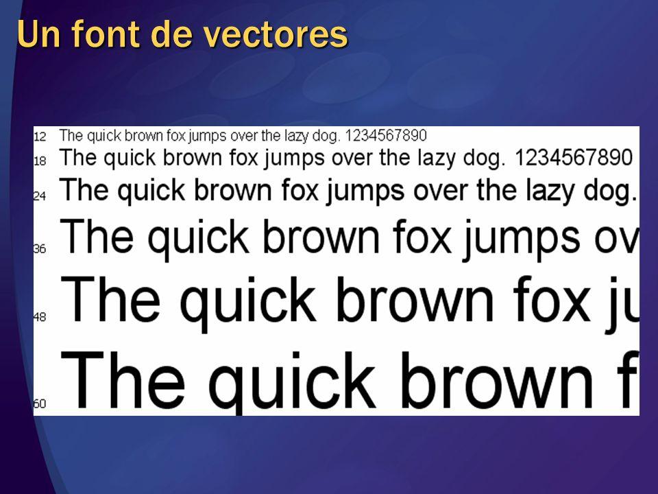 Un font de vectores