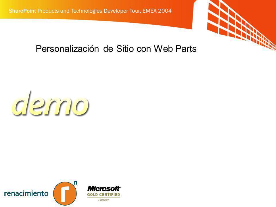 Personalización de Sitio con Web Parts
