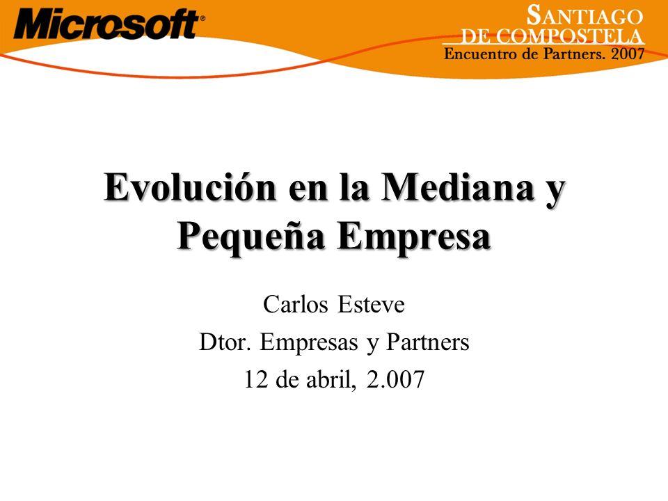 Evolución en la Mediana y Pequeña Empresa Carlos Esteve Dtor. Empresas y Partners 12 de abril, 2.007