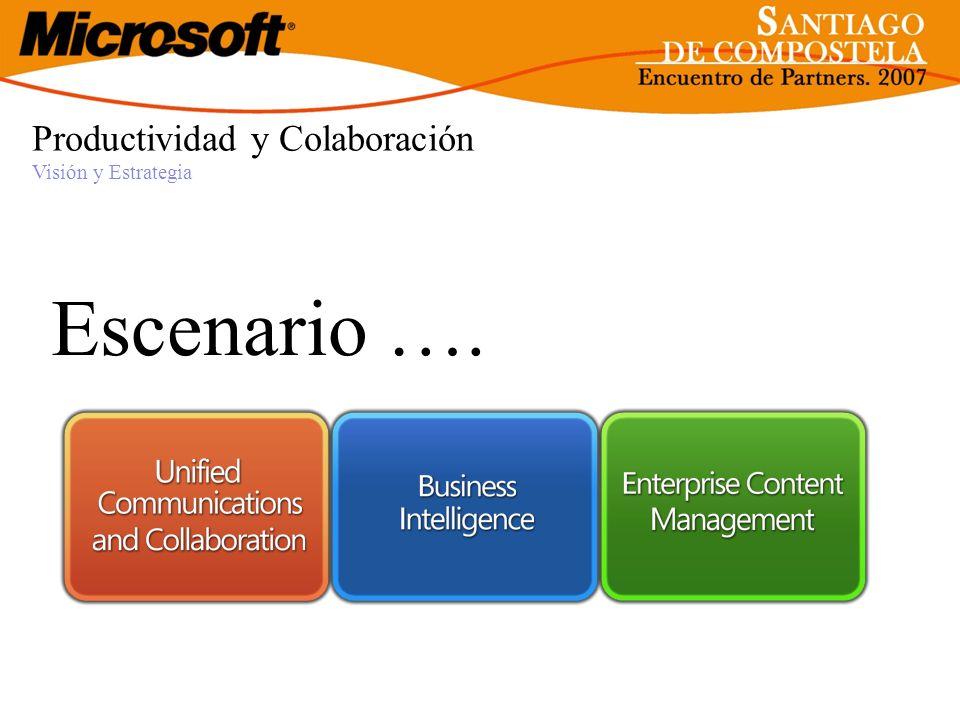 Productividad y Colaboración Visión y Estrategia Escenario ….